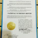 Governor Otter Proclaims March 2015 as National Nutrition Month!